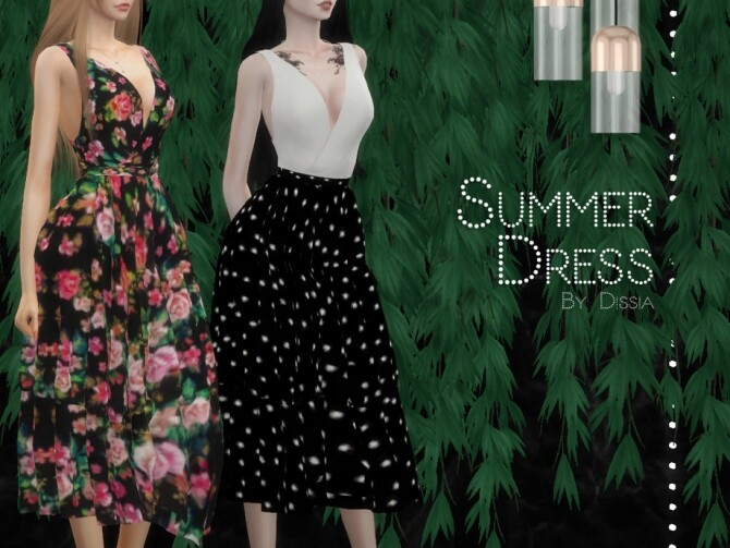 Sims 4 Summer Dress by Dissia at TSR