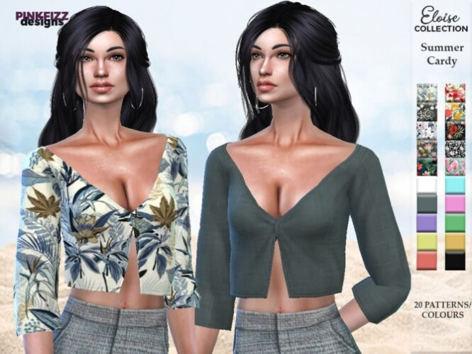 Eloise Summer Cardy PF125 by Pinkfizzzzz