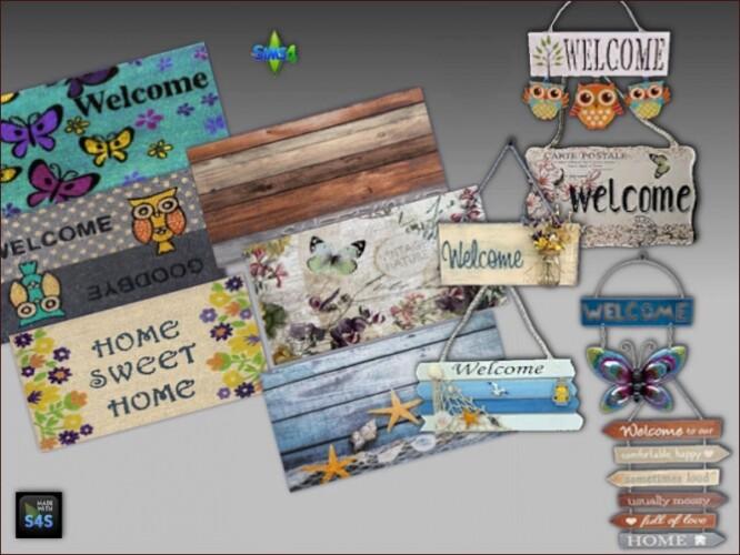 Door mats and decorative signs