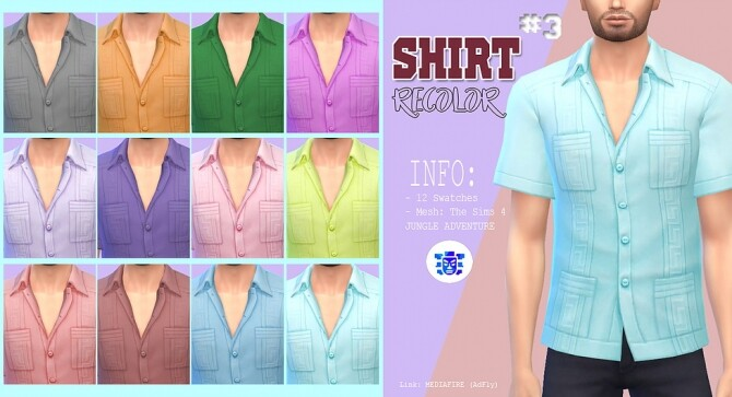 Sims 4 Male shirt recolor 3 at Kass