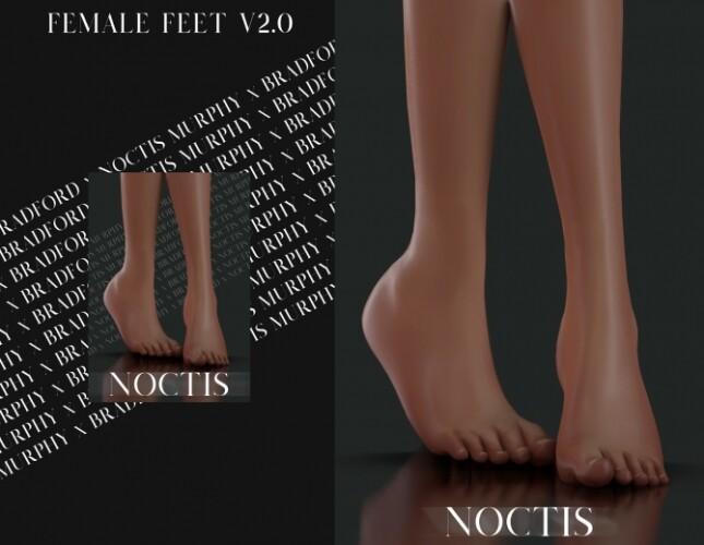 Female Feet V2 by Silence Bradford