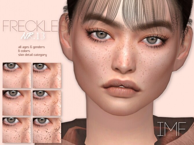 Sims 4 IMF Freckles N.13 by IzzieMcFire at TSR