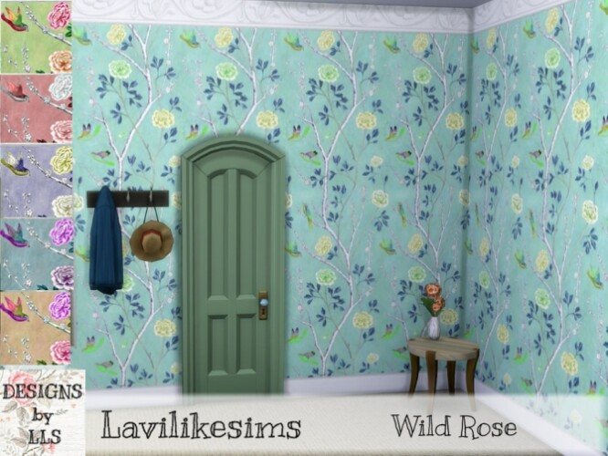 Wild Rose wallpaper by lavilikesims