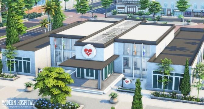 Modern hospital at Helga Tisha image 1121 670x359 Sims 4 Updates