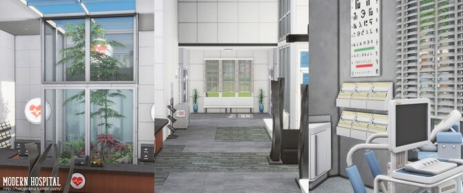 Modern hospital at Helga Tisha image 1131 670x279 Sims 4 Updates