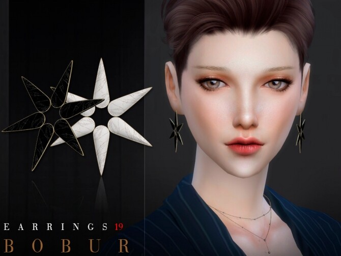 Earrings 19 by Bobur3 at TSR image 1132 670x503 Sims 4 Updates