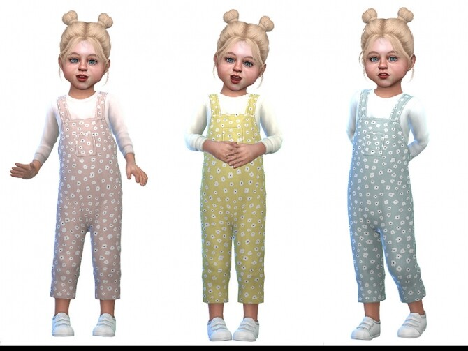 Sims 4 Overall for Toddler Girls 02 by Little Things at TSR