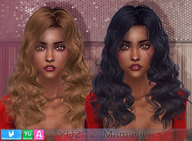 Sims 4 YU212 Mamacita hair (P) at Newsea Sims 4