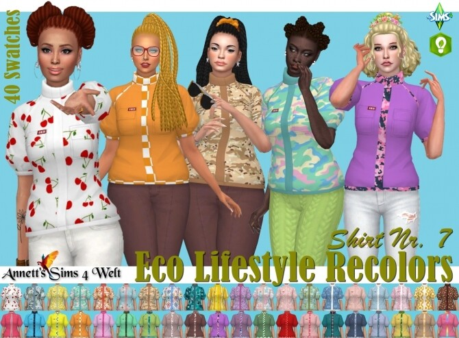Eco Lifestyle Recolors Shirt Nr. 7 at Annett's Sims 4 Welt image 11417 670x493 Sims 4 Updates