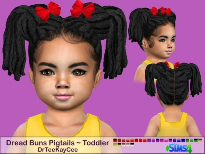 Dread Buns Pigtails Toddler by drteekaycee