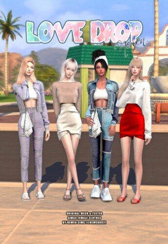 Love Drop Sims 4 Clothes Collection