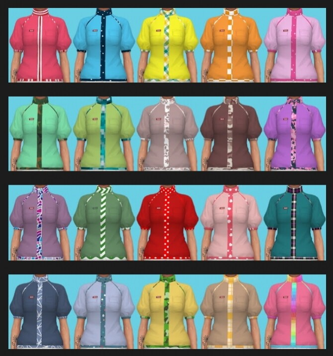 Sims 4 Eco Lifestyle Recolors Shirt Nr. 7 at Annett's Sims 4 Welt
