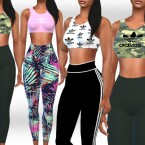 Female Athletic OverAlls Mix by Saliwa