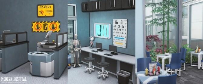 Modern hospital at Helga Tisha image 1162 670x279 Sims 4 Updates