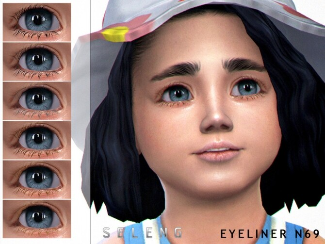 Sims 4 Eyeliner N69 by Seleng at TSR