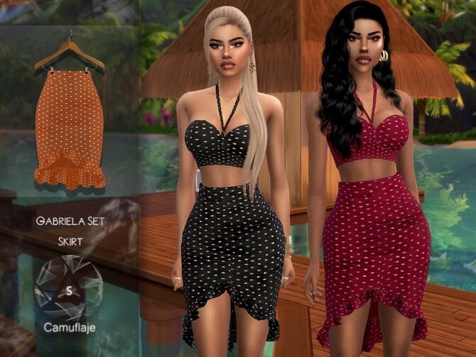 Sims 4 Gabriela Skirt by Camuflaje at TSR