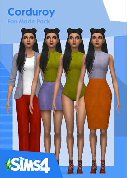 Corduroy clothes at Heartfall image 11716 Sims 4 Updates