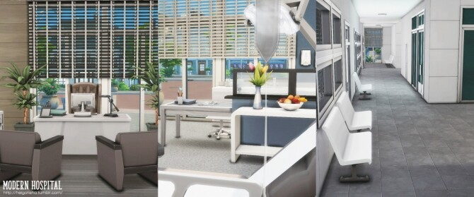 Modern hospital at Helga Tisha image 1172 670x279 Sims 4 Updates