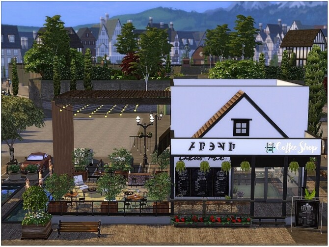 Wooden Cafe by lotsbymanal at TSR image 1180 670x503 Sims 4 Updates