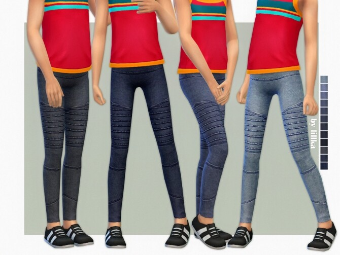 Sims 4 Skinny Jeans for Girls 09 by lillka at TSR