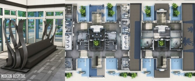 Modern hospital at Helga Tisha image 1182 670x279 Sims 4 Updates
