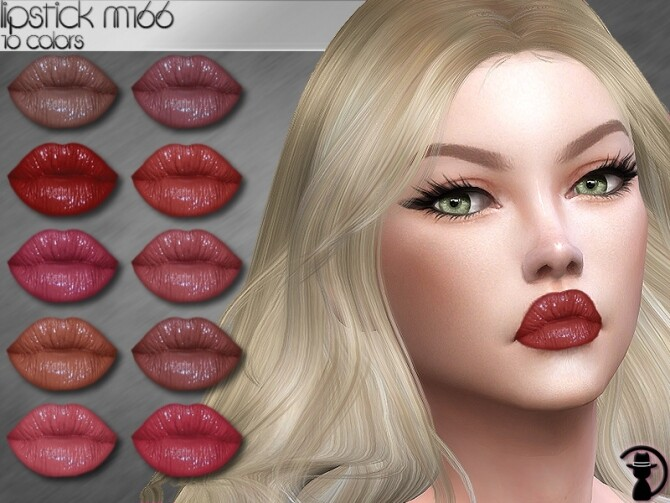 Sims 4 Lipstick M166 by turksimmer at TSR