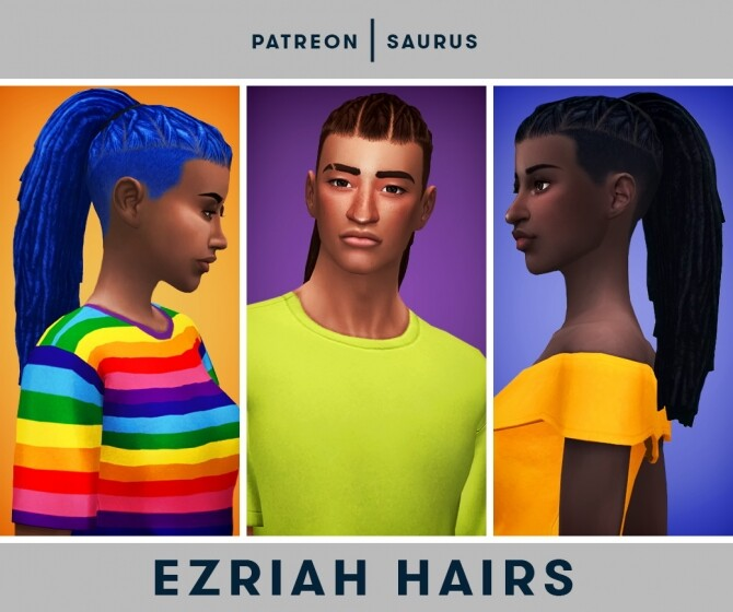 Ezriah dreads and undercuts hairs at Saurus Sims image 11915 670x560 Sims 4 Updates