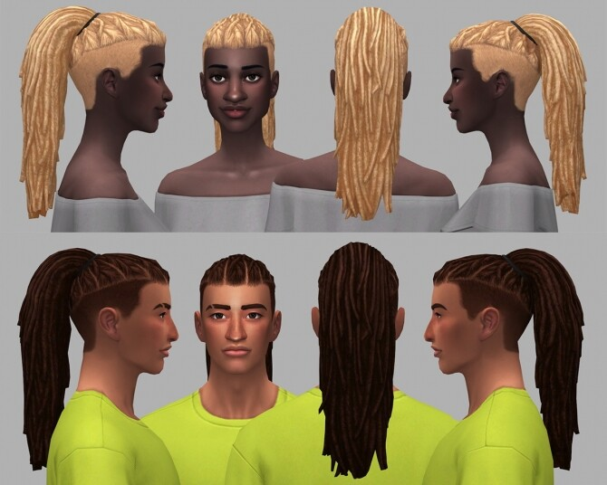 Ezriah dreads and undercuts hairs at Saurus Sims image 12013 670x536 Sims 4 Updates