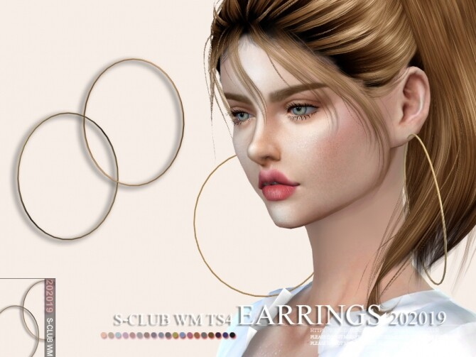 Sims 4 EARRINGS 202019 by S Club WM at TSR