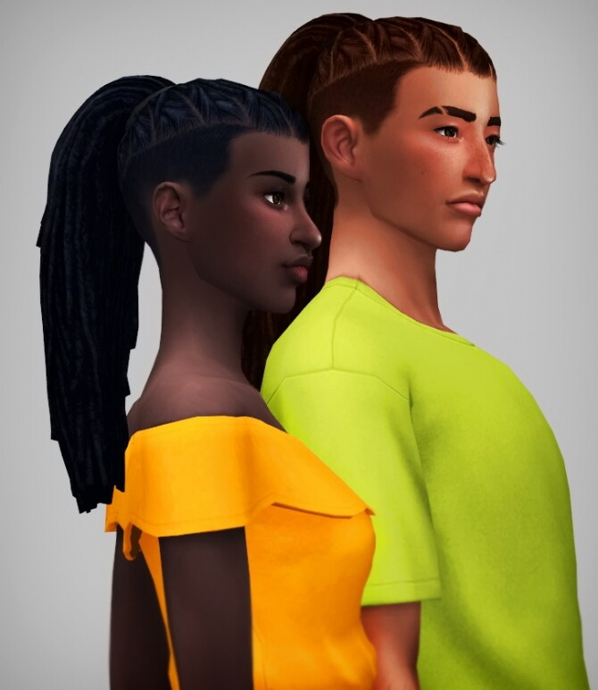 Ezriah dreads and undercuts hairs at Saurus Sims image 12118 670x772 Sims 4 Updates