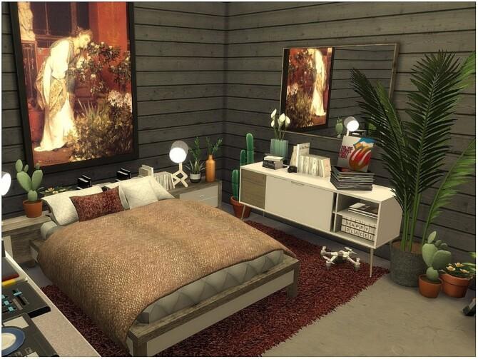 Sims 4 Boho Industrial House by lotsbymanal at TSR