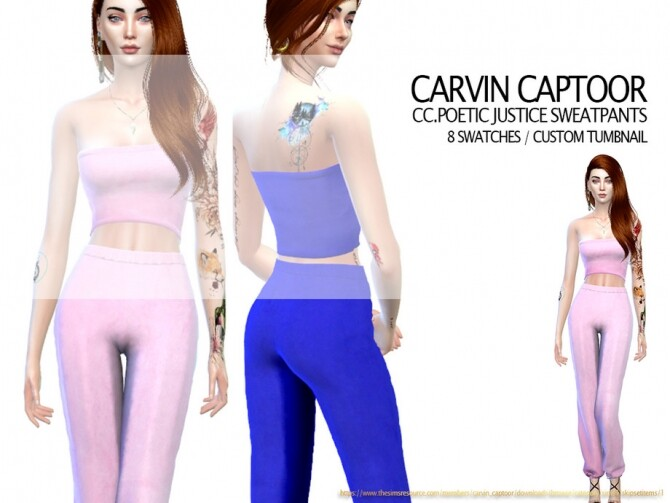 Sims 4 Poetic Justice Sweatpants by carvin captoor at TSR