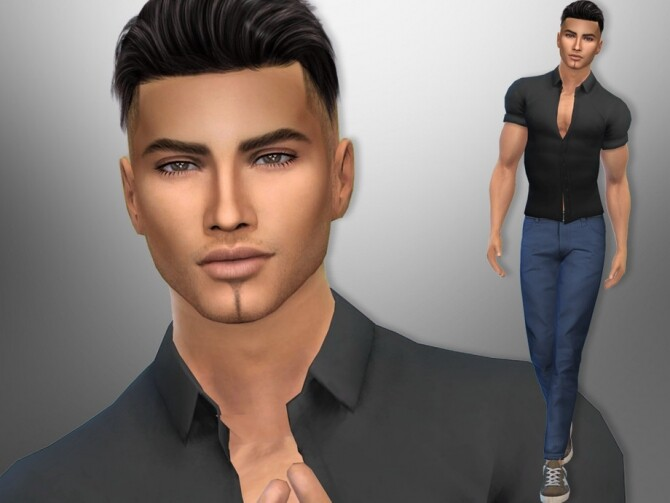 Sims 4 Brad Tyler by divaka45 at TSR