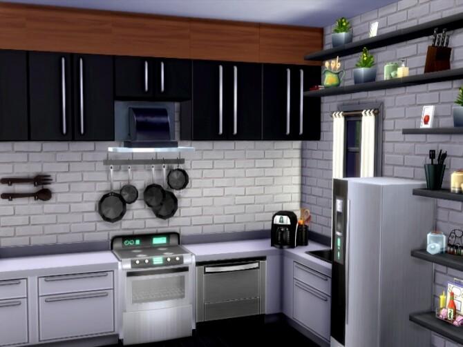 Sims 4 Skinny House by GenkaiHaretsu at TSR