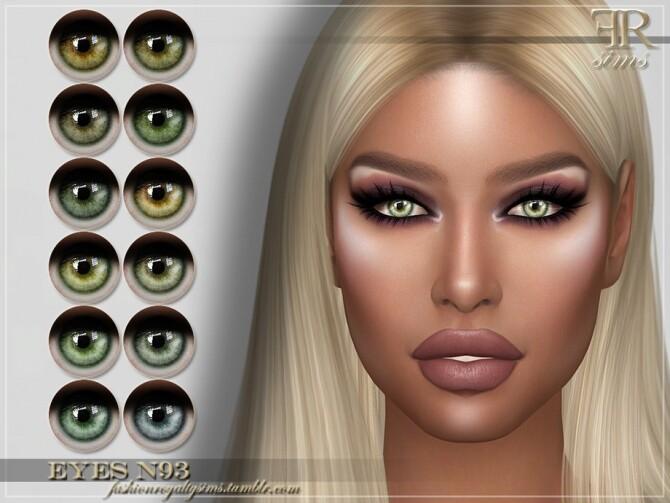 Sims 4 FRS Eyes N93 by FashionRoyaltySims at TSR