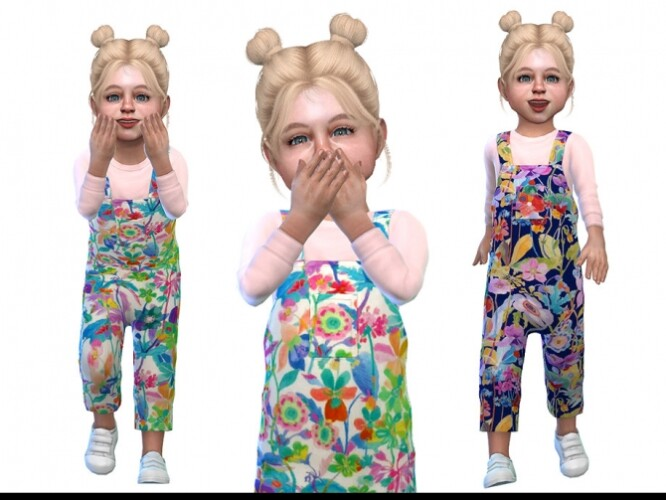 Overall for Toddler Girls 01 by Little Things