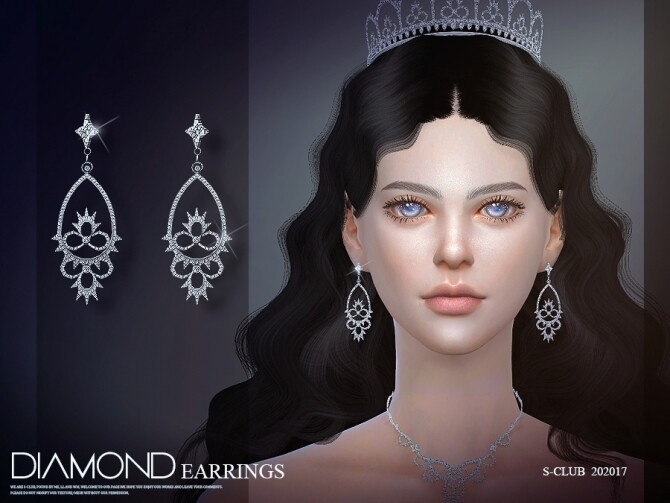 Sims 4 EARRINGS 202017 by S Club LL at TSR