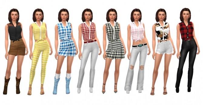 Sims 4 GP06 TIED SHIRT at Sims4Sue