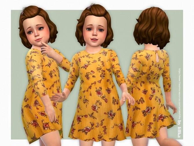 Sims 4 Valerie Dress by lillka at TSR