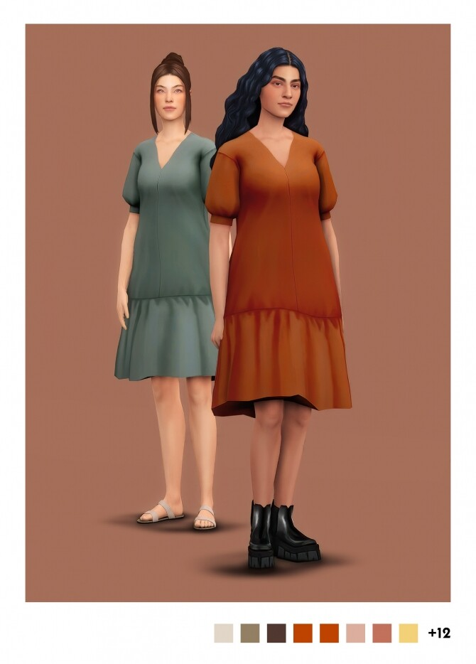 Sims 4 Serenity dress recolors at Sulsulhun