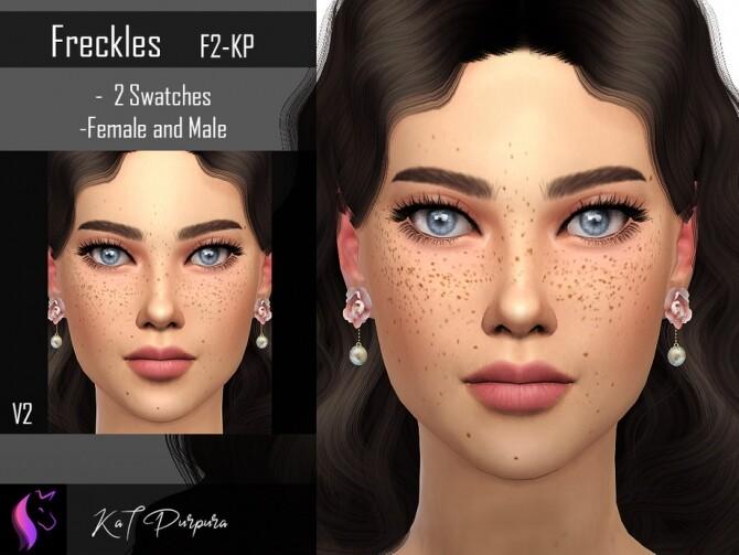 Sims 4 Freckles F2 KP by KaTPurpura at TSR