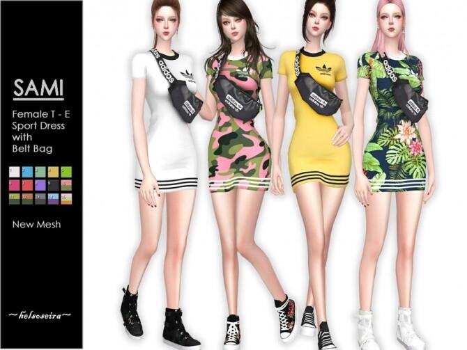 Sims 4 SAMI Sport Mini Dress by Helsoseira at TSR