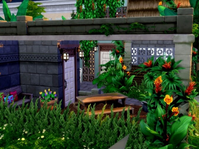 Sims 4 Waterfall escape by GenkaiHaretsu at TSR