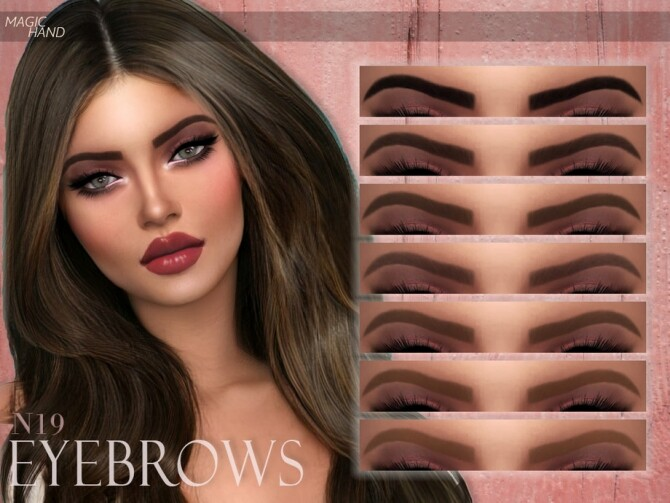 Sims 4 Eyebrows N19 by MagicHand at TSR