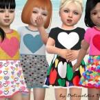 Toddler Hearts Dress by Pelineldis