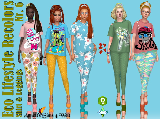 Eco Lifestyle Recolors Shirt & Leggings Nr. 6 at Annett's Sims 4 Welt image 13313 Sims 4 Updates