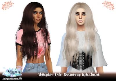 Sims 4 Anto Downpour Hair + Less Details Retexture at Shimydim Sims
