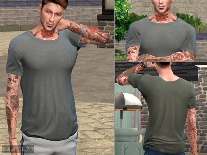 Wide Neck Tee by Darte77 at TSR image 13410 670x503 Sims 4 Updates