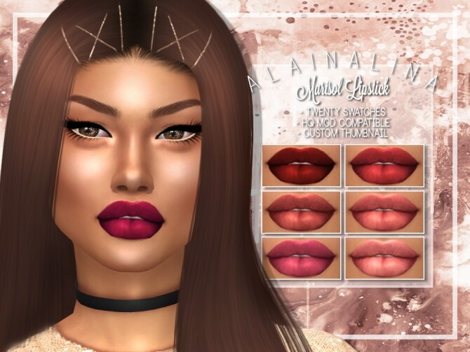 Sims 4 Marisol Lipstick at AlainaLina