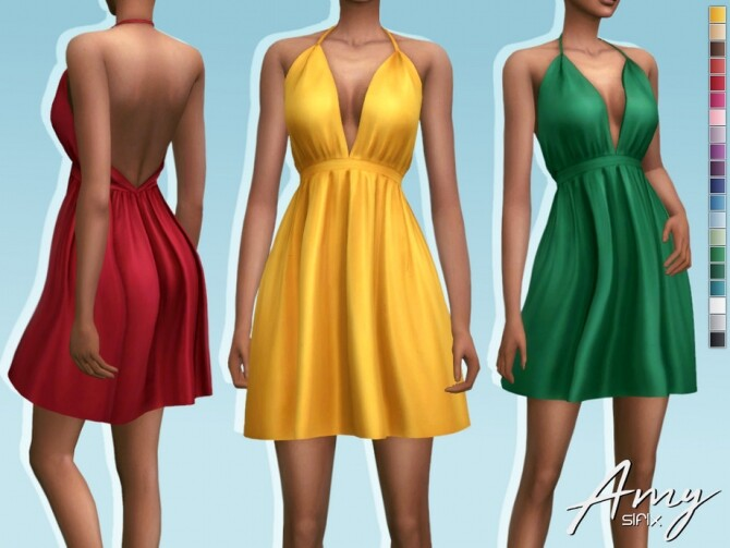 Sims 4 Amy Dress by Sifix at TSR